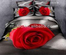 Wholesale-6PCS with 3D Flower printed bedding set bed linen 3D bedlinen