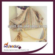 2014 summer new material woven straw shoulder bags big handbags