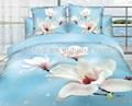 Atacado e varejo- 6 pcs com 3d flor impresso conjunto de cama roupa de cama de lençóis 3d