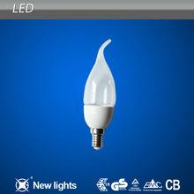 LED Candle Lamp/Light Transparent / Atomization (plastic)