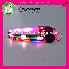 LED flashing webbing for dog collars