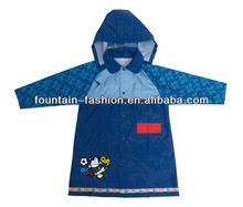 Waterproof Hooded 100% Polyester/pa/pvc/pu mixed color Kids Children Raincoat