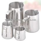 350/600/1000ML 20 Gauge 18/8 stainless steel milk jug pitcher