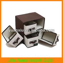2014New 4 Drawer Storage Box,dvd storage drawer box,foldable 600D oxford/Non-woven fabric drawer storage box,