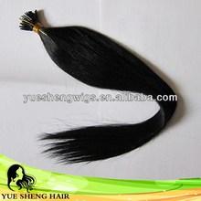 New style cheapest jet black shinning hair