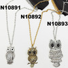 young mens alloy owl necklaces