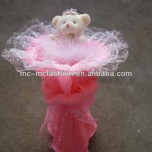 Buquê de brinquedo de pelúcia urso dos desenhos animados bouquets para o aniversário