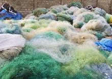 Monofilament PA Nylon Fishing Nets scrap in bale