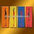 venta caliente hecha a mano de arte africano de la pared foto sobre lienzo