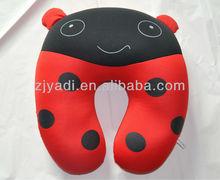 Animal printed Spandex Beads U neck Pillow, Kids travel Pillow, Child neck Pillow, microbeads travel pillow