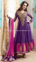 Purpl color dress with hand embroidery & peals work beauty of Dubai