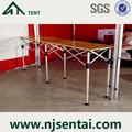 acessórios da barraca de alumínio estrutura de madeira top mesa dobrável para eventos