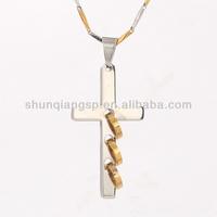 mens hot sale pendant jewelry making sideways cross