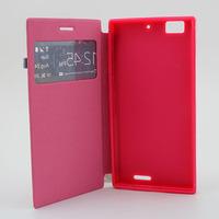 for Lenovo K900 leather case, stock leather case, cheap flip case