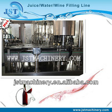 Glass bottled grape wine filling factory 3 in 1