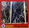 china natural factory black &gold marble slab