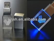 4GB LED glass crystal USB 2.0 pen drive