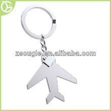 Promotional airplane shaped metal keychains