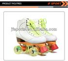 Adjustable Pu Four Flashing Wheels Aluminium Bearing Size Kids Roller Skating Shoe