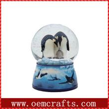Double penguin blue Snow globe kit for sale