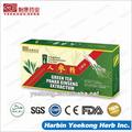 panax ginseng con extracto de té verde