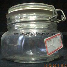 Mini Storage glass jar wire closure lid