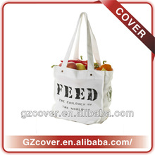 Natural cotton canvas gift bag for fruits and food bag