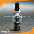 O mais novo 2014 erva seca/cera vaporizador vaporizador, globo de vidro vaporizador vaporizador de fumo dispositivo