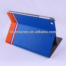 For ipad mini2 leather case with foldable stand Luxury Leather Smart Case Stand Cover for Apple ipad mini 2