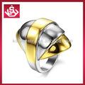 nuevo diseño de oro dedo el anillo de acero inoxidable anillo de la joyería para los hombres y las mujeres
