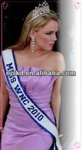 fashion satin printed pageant customize sash for celebration-012