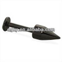 Black anodized titanium lip rings piercing