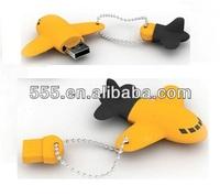 PVC Plane Company Logo Keychain USB Flash Drive