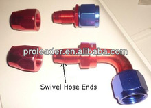 Hot selling!! auto racing aluminum fuel Swivel Hose Ends AN4/AN6/AN8/AN10/AN12 fittings for oil cooler hose/oil cooling hose