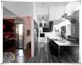 cozinha moderna porta de vidro deslizante e hardware