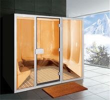 8 person all Glass Facade portable steam room