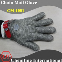 stainless steel 5 finger cut resistant gloves for butcher safety/chain mail gloves/chainmail gloves