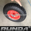 pneumatic wheels with steel center rim for carts