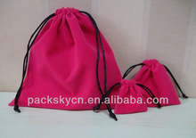 velvet drawstring bags/jewelry pouch/gift bag for packaging