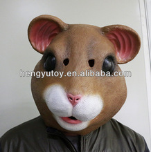 2014 Brand Brazil World Cup Cosplay Party Costume Latex Hamster Mask for Adult Carnival