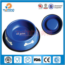 wholesale colorful non-skid stainless steel dog food bowl pet product