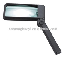 HY116 pocket magnifier,handled magnifier,illuminating magnifier