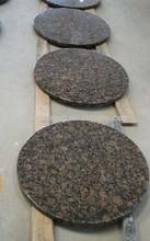 Natural Granite Round Vanity Top (Baltic Brown Granite)