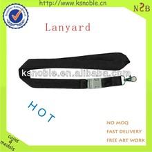 Custom black good quality id card lanyard