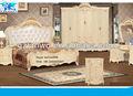 2014 nuevo modelo para el hogar mueblesdeldormitorio elegante rey único tamaño dormitorio juegos de color blanco la noche de pie armario aparador