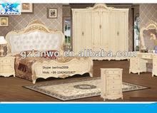 2014 new model home bedroom furniture elegant unique king size bedroom sets white color night stand wardrobe dresser