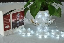 Decoration light string ,led light for wedding decoration ,snowflake string light