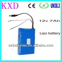 Lipo 12v 7000mah rechargeable long cycle life power tool battery