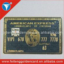 Custom 24k gold American Express black cards,American Express black cards wholesale in CN