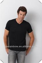 men's Short-Sleeve V-Neck Tri blend t shirt for wholsale made in China
